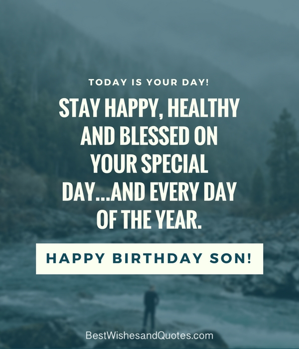 birthday blessing message for son ; birthday-quotes-for-my-son
