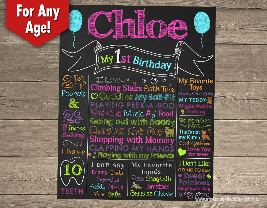 birthday board template ; free-first-birthday-chalkboard-poster-template-il-fullxfull