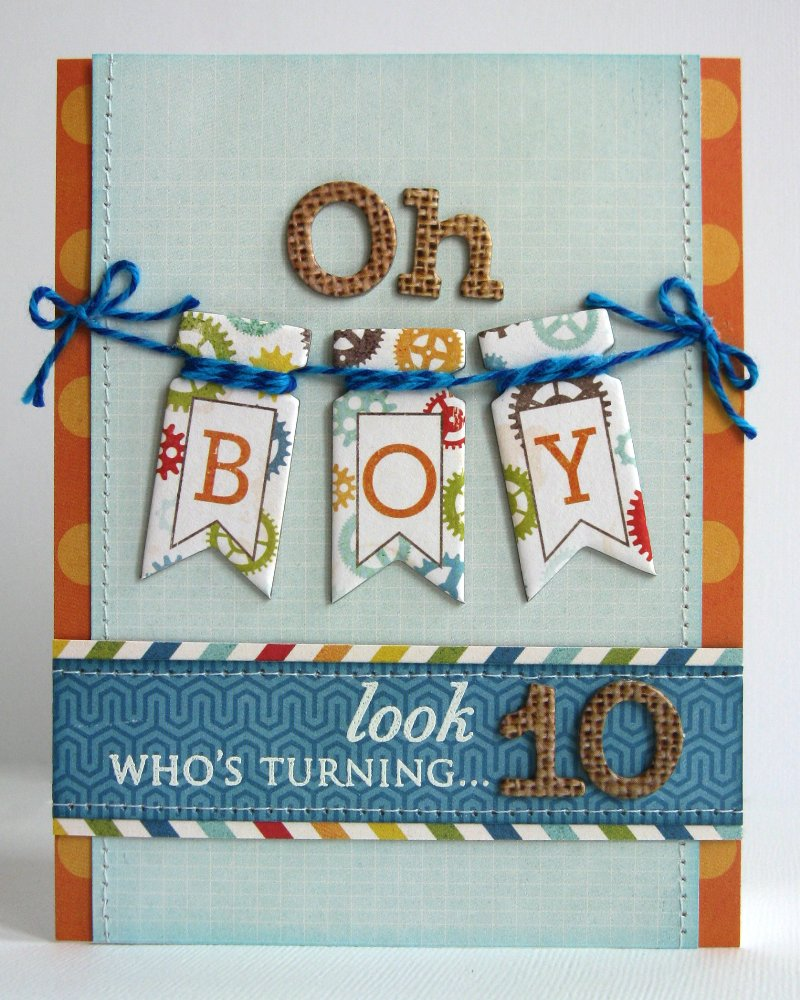 birthday boy card ideas ; Oh+Boy!+10th+Birthday+Card