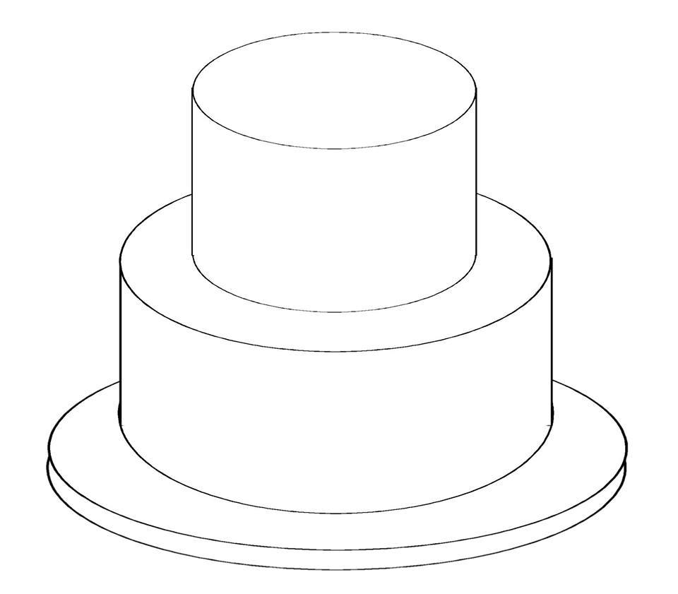birthday cake cut out template ; 2-tier-cake-templates-printable_184284