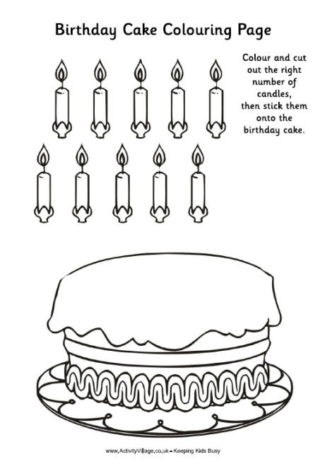 birthday cake cut out template ; birthday-cake-colouring-activity-pre-k-birthday-unit-pinterest-inside-birthday-cake-template-printable