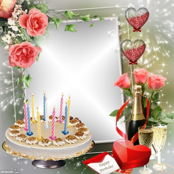 birthday cake photo frame for husband ; 3563ee5fbaa6d88415aead68815801d5