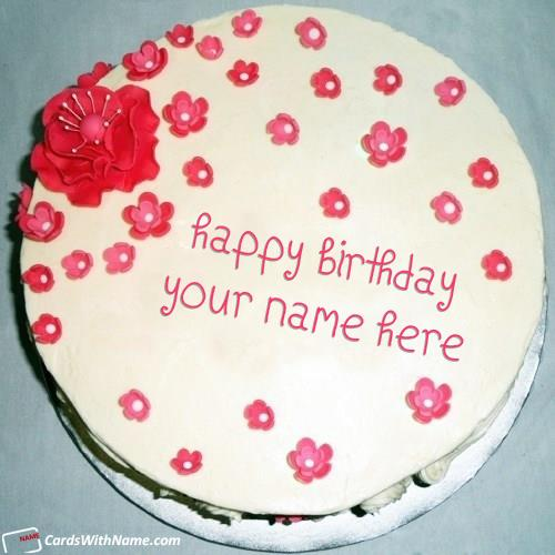birthday cake with name n photo ; red-flowers-birthday-cake-for-girlfriend-with-name-549c