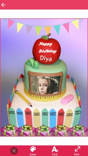 birthday cake with photo and name app ; 300x0w