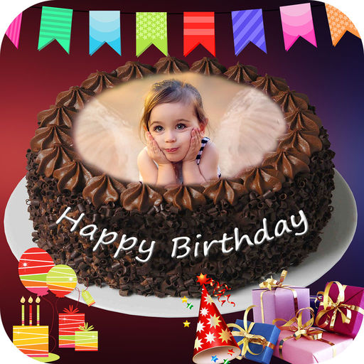 birthday cake with photo and name app ; 512x512bb