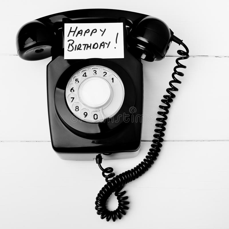 birthday call ; happy-birthday-telephone-call-retro-phone-concept-back-to-good-old-days-people-used-basic-technology-to-communicate-34321659