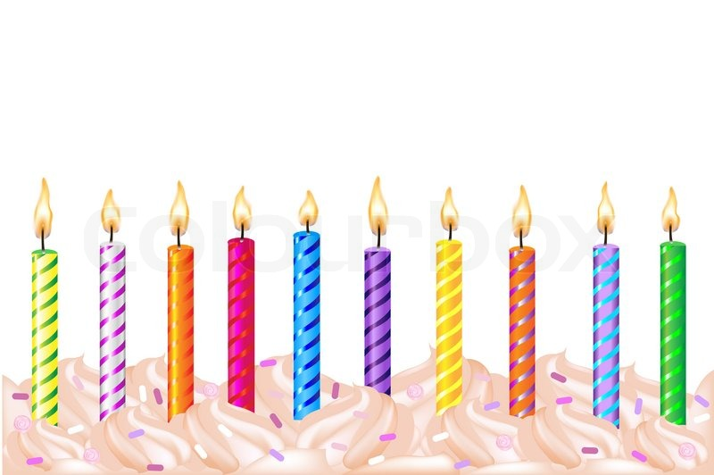 birthday candles ; 4401426-birthday-candles