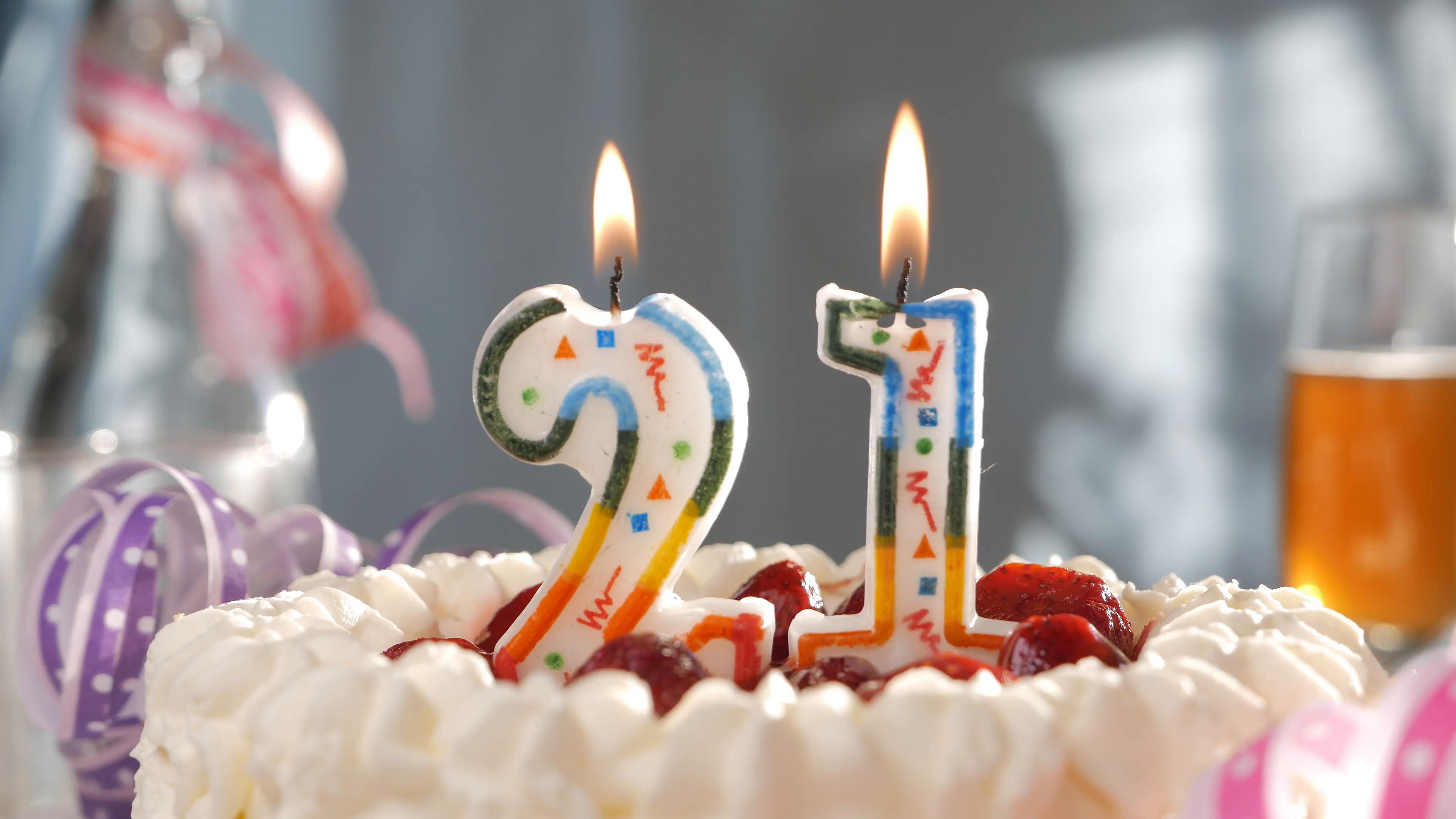 birthday candles ; birthday-cake-with-birthday-candles-with-the-number-21_v1vz9nwnl__F0000