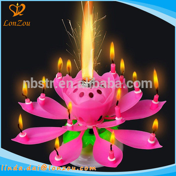 birthday candles ; birthday-candles-flaming-flower-rotating-musical-happy