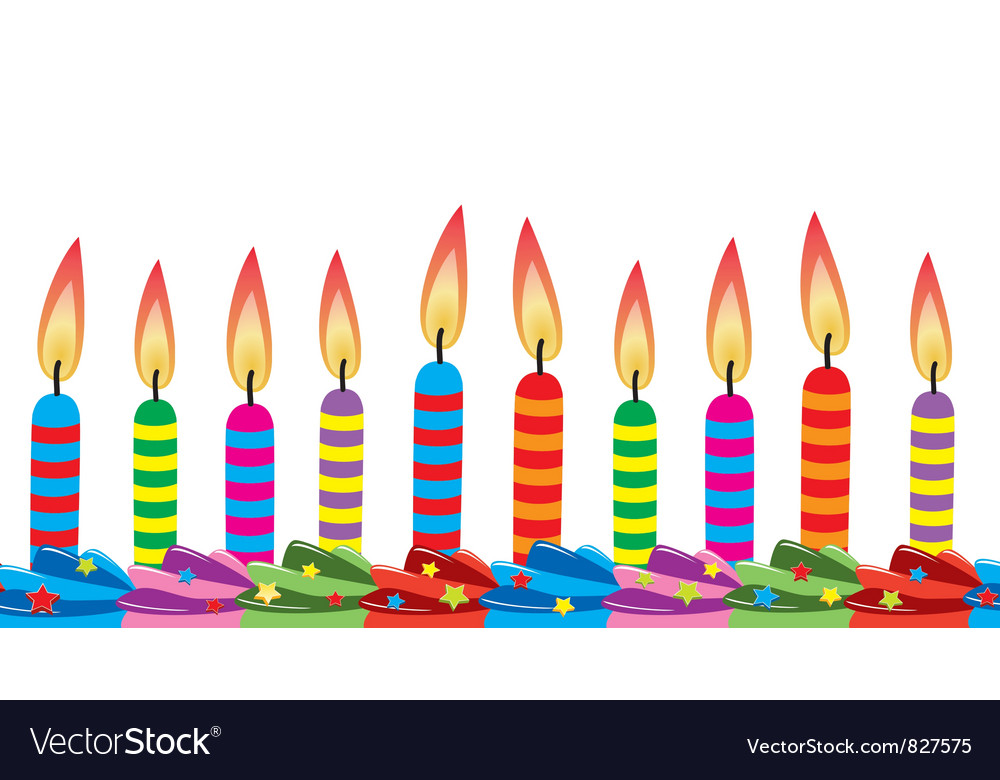 birthday candles ; birthday-candles-on-cake-vector-827575