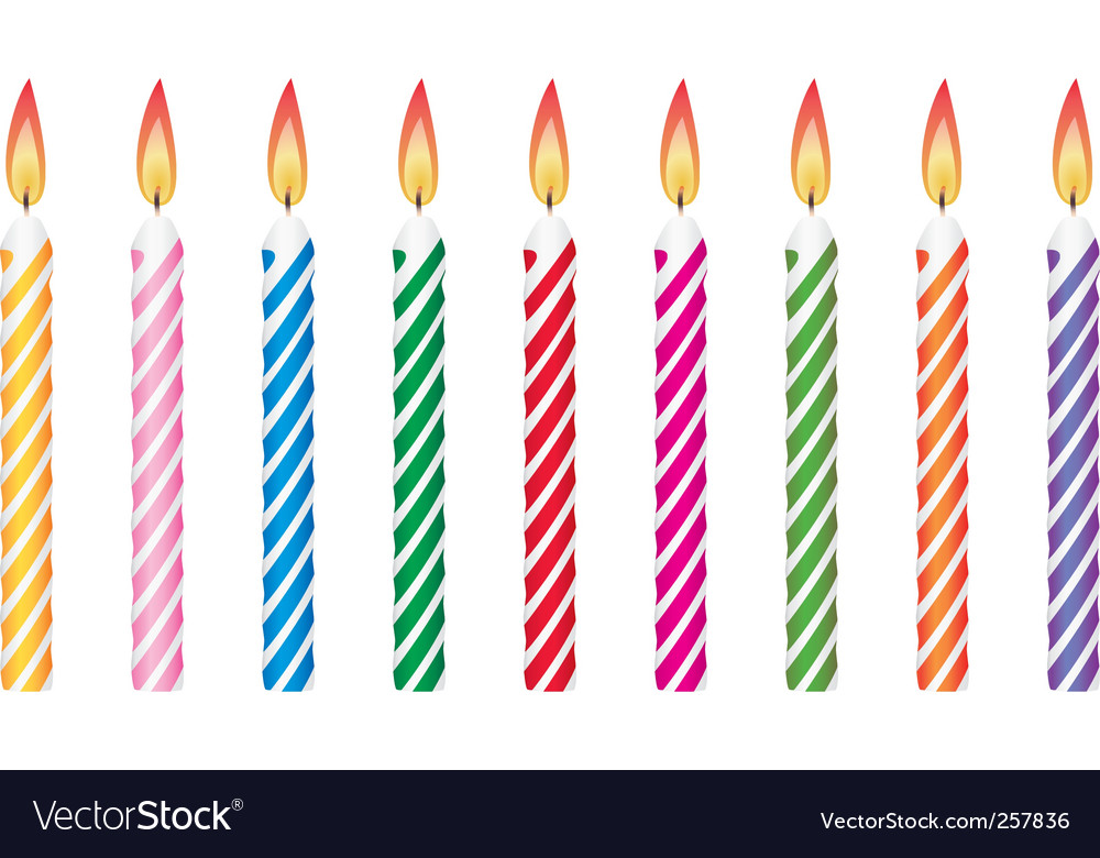 birthday candles ; birthday-candles-vector-257836