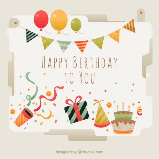 birthday card application free ; beautiful-birthday-card-with-elements_23-2147551587