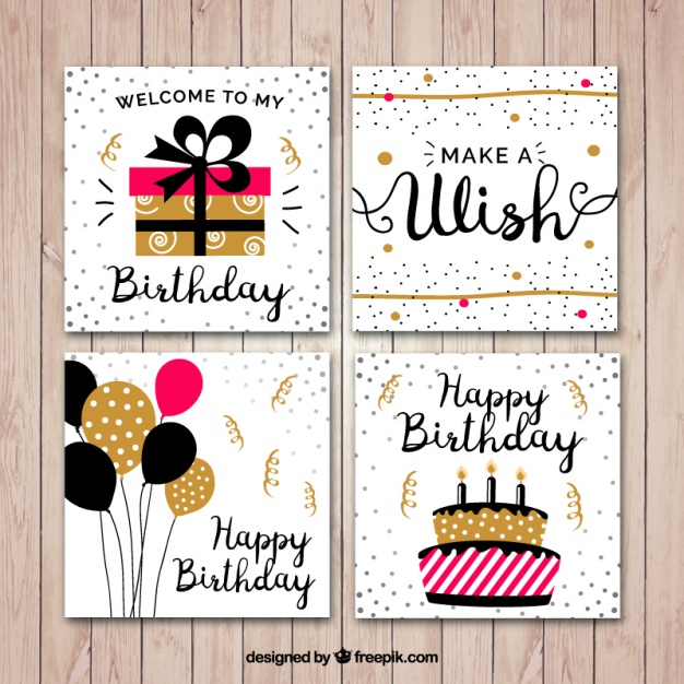 birthday card application free ; flat-birthday-card-set_23-2147583764