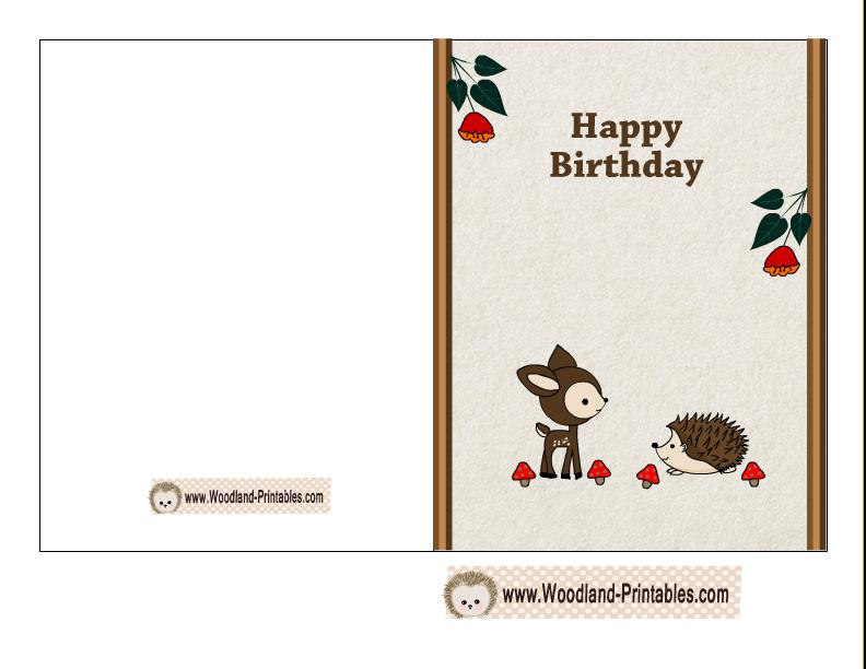 birthday card application free ; free-printable-birthday-card-deer-hedgehog