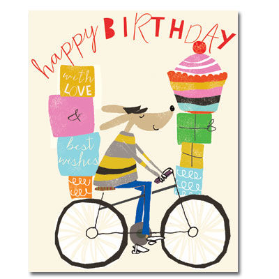birthday card bicycle rider ; buy_dog_on_bike_birthday_card_for_him_online_mens_birthday_card_with_cyclist_bicycle_dogs_presents_male_birthday_cards_grande