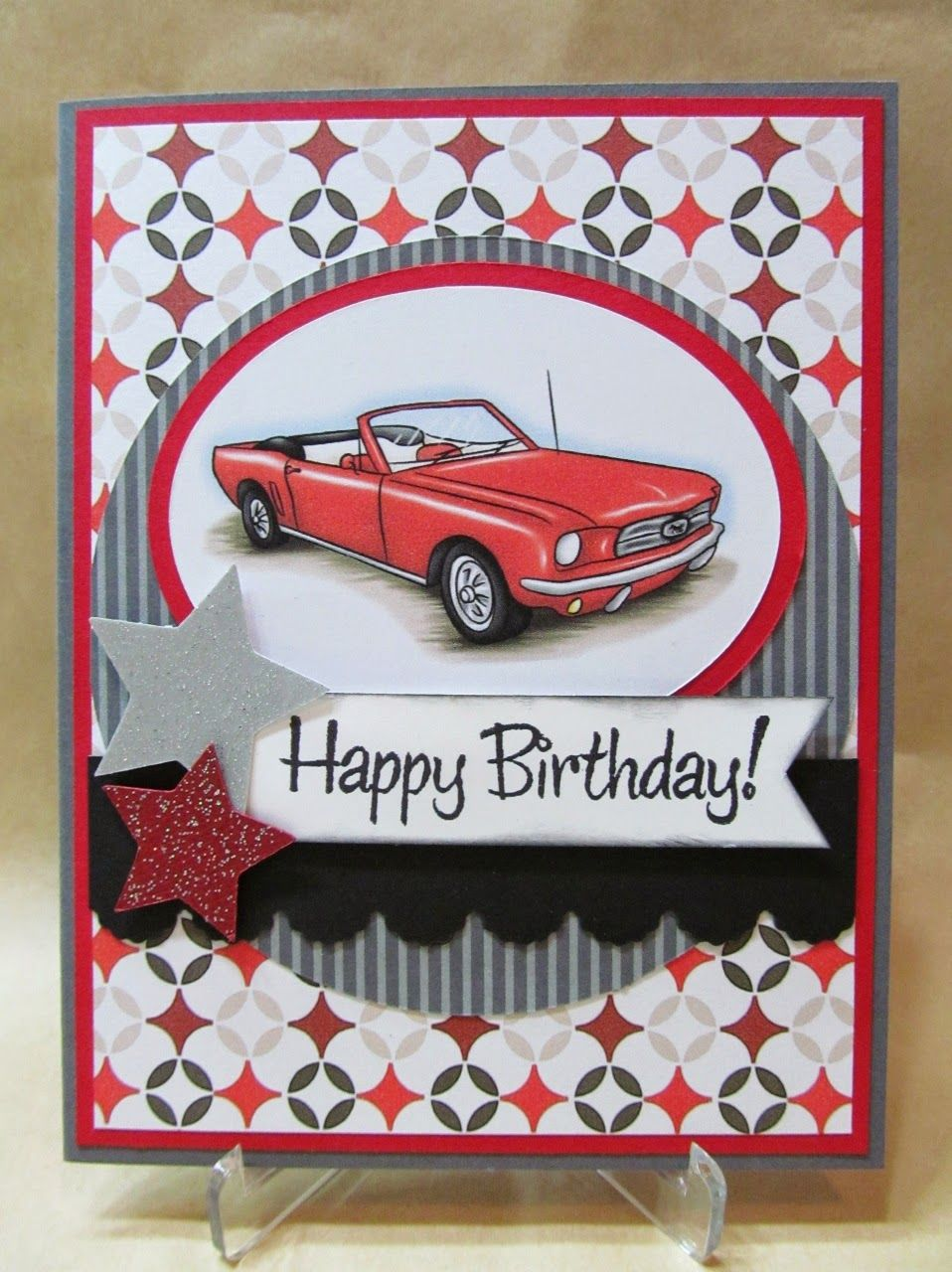 birthday card car ; 7e46d8d3aaddc727805113b855d04103