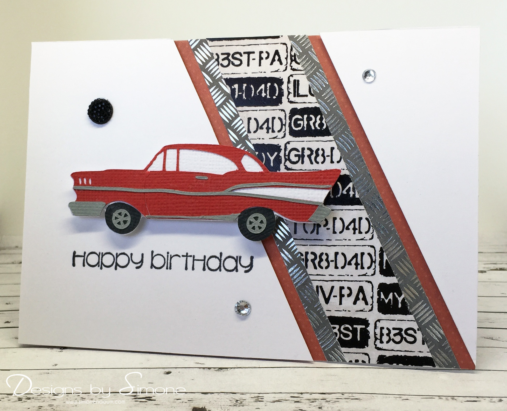 birthday card car ; Classic-Car-Birthday-Card