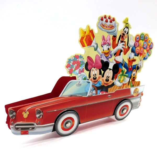 birthday card car ; LMC37-2