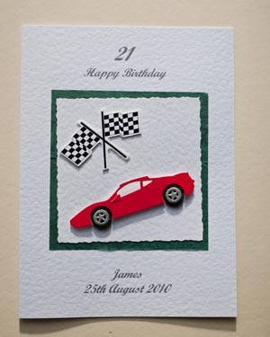 birthday card car ; P147a