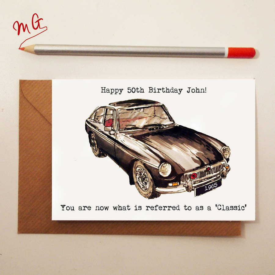 birthday card car ; original_classic-car-birthday-card