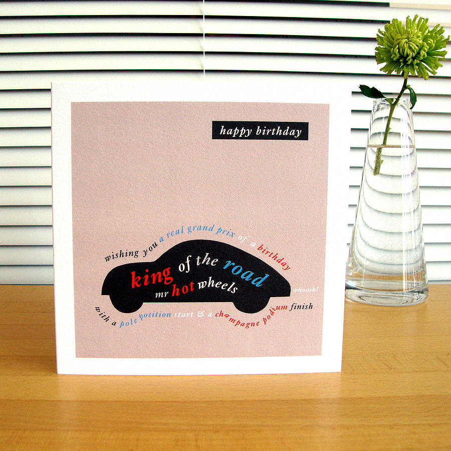 birthday card car ; original_contemporary-birthday-cards