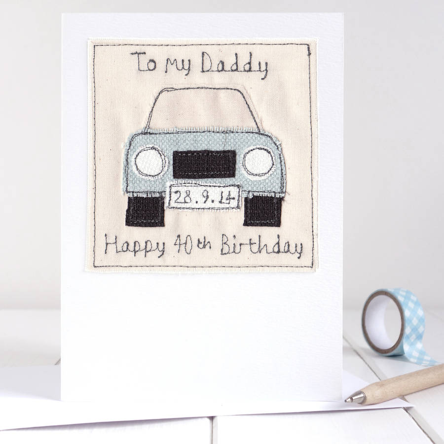 birthday card car ; original_personalised-embroidered-car-card