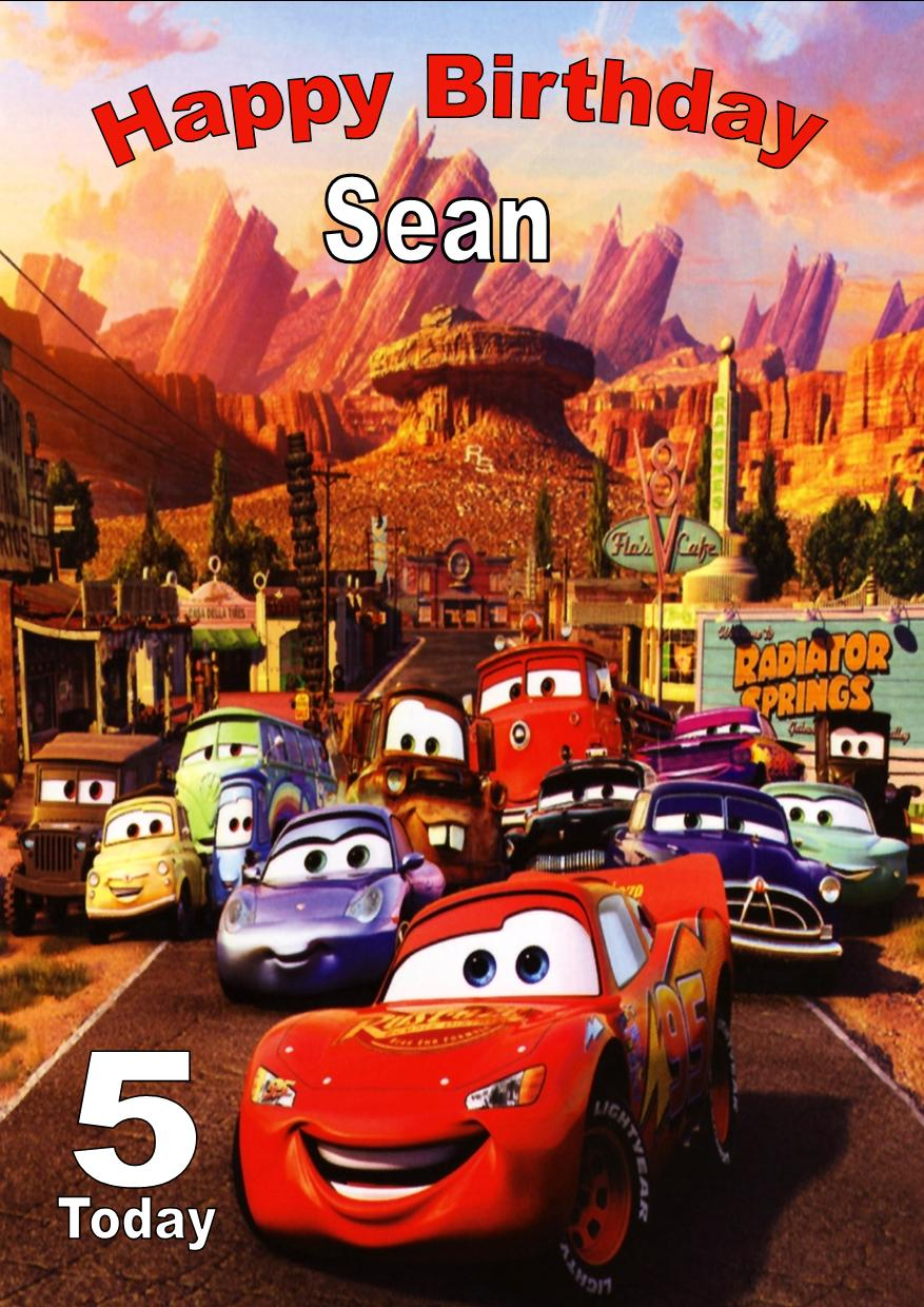 birthday card car ; personalised-disney-cars-birthday-card-1443-p