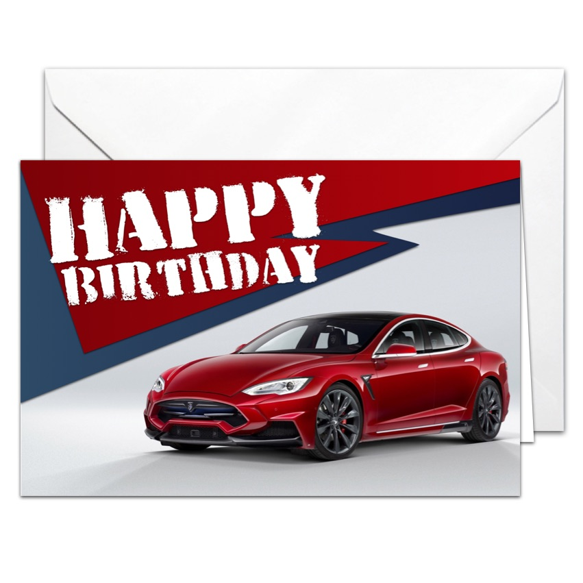 birthday card car ; tesla_birthday_card