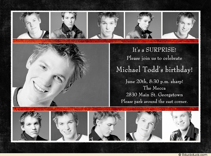 birthday card collage ideas ; Custom-Photo-Collage-surprise-birthday-red-charcoal