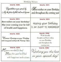 birthday card comments ; birthday-card-wishes-sayings-birthday-card-words-rectangle-potrait-white-eight-slot-of-christmas-card-template-verse-selection-birthday-verse-card-message-cardmaking