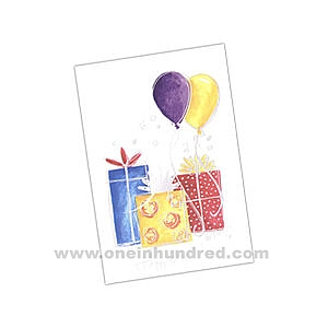 birthday card envelope design ; Foil-verse-and-name---Presents-5166060