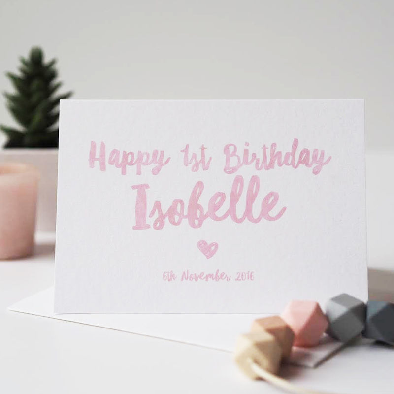 birthday card for a baby girl ; happy_1st_birthday_pink_grande
