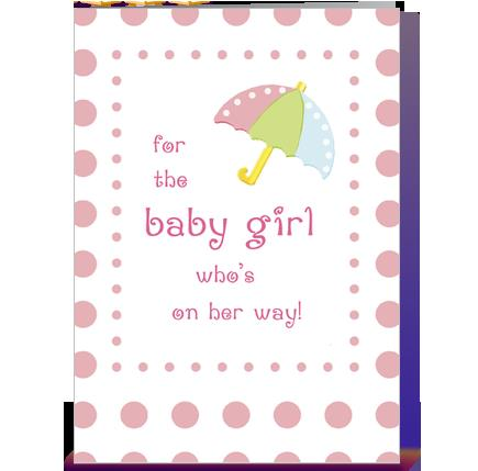 birthday card for a baby girl ; projects-idea-of-baby-shower-congratulations-girl-greeting-card-by-sandra-rose