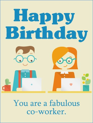 birthday card for colleague ; you-are-a-fabulous-birthday-card-for-co-worker-of-birthday-card-for-coworker