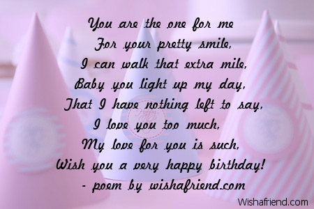birthday card for ex girlfriend ; 2613-girlfriend-birthday-poems