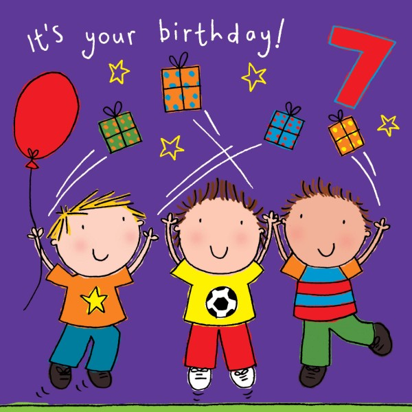 birthday card for kids boy ; age-7-boys-birthday-card-188-p