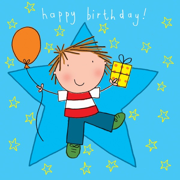 birthday card for kids boy ; boy-and-balloon-birthday-card-213-p