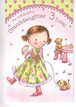 birthday card for little girl ; 51Rtszbg5ML