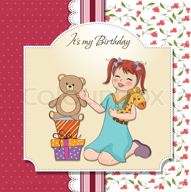 birthday card for little girl ; 800px_COLOURBOX4108940