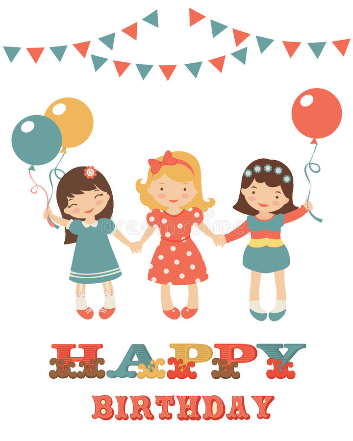 birthday card for little girl ; birthday-card-cute-little-girls-28957362