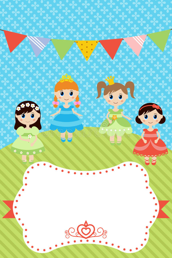 birthday card for little girl ; birthday-card-little-girls-greeting-template-happy-place-text-63991769