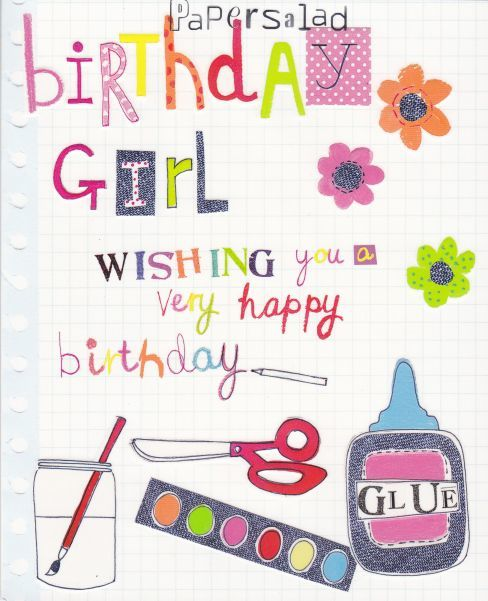 birthday card for little girl ; birthday-cards-for-little-girls-birthday-girl-birthday-card-karenza-paperie-printable