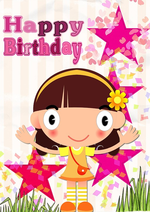 birthday card for little girl ; happy-1276493_960_720