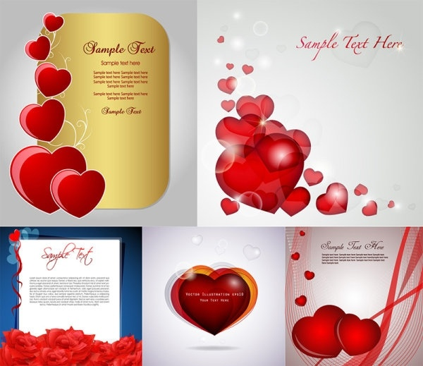 birthday card for lover free download ; romantic_love_card_vector_153640