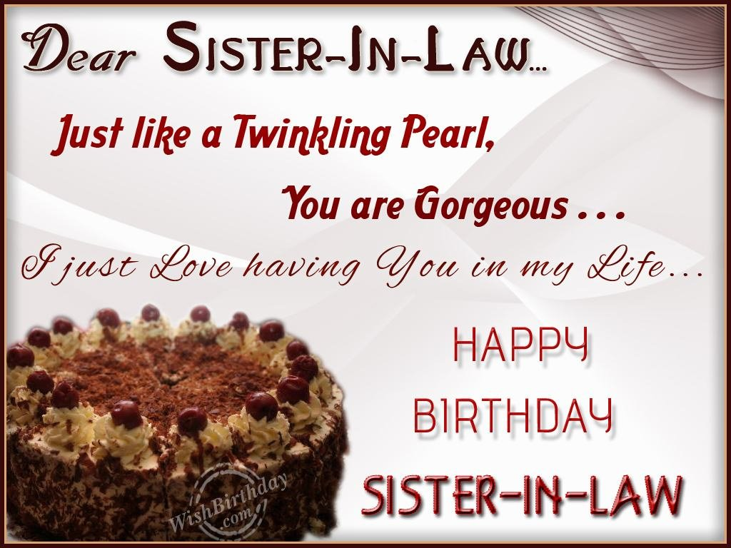 birthday card for my sister in law ; 1082