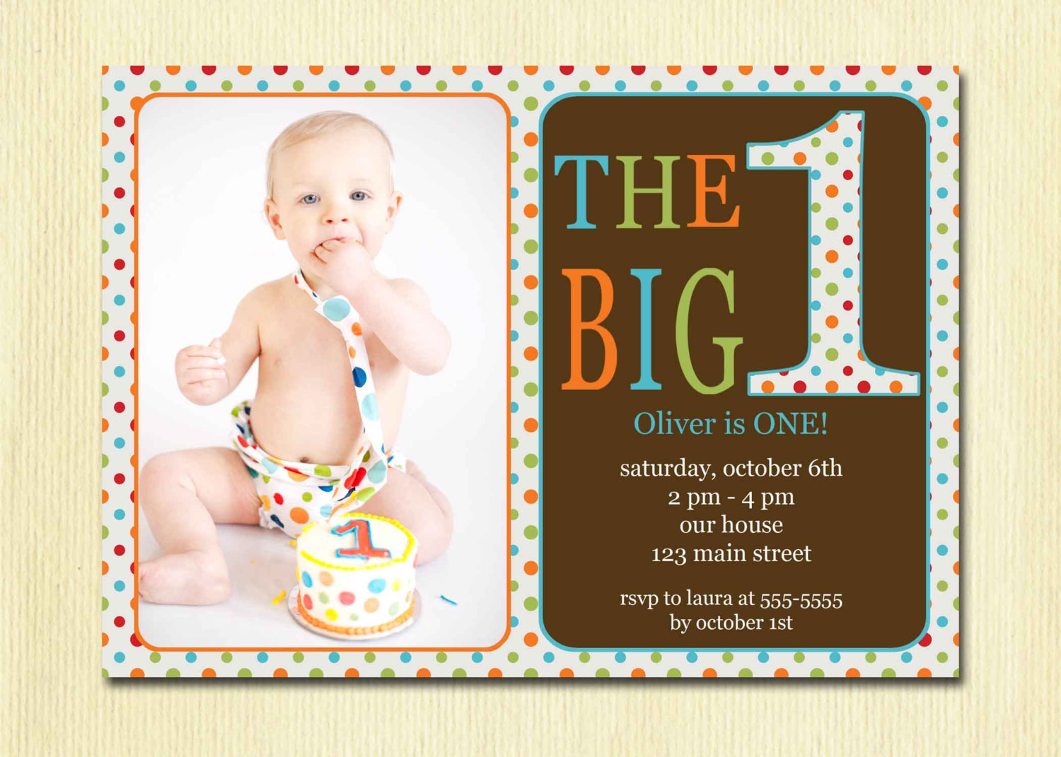 birthday card for one year old boy ; Marvellous-One-Year-Old-Birthday-Invitations-For-Additional-Custom-Birthday-Invitations