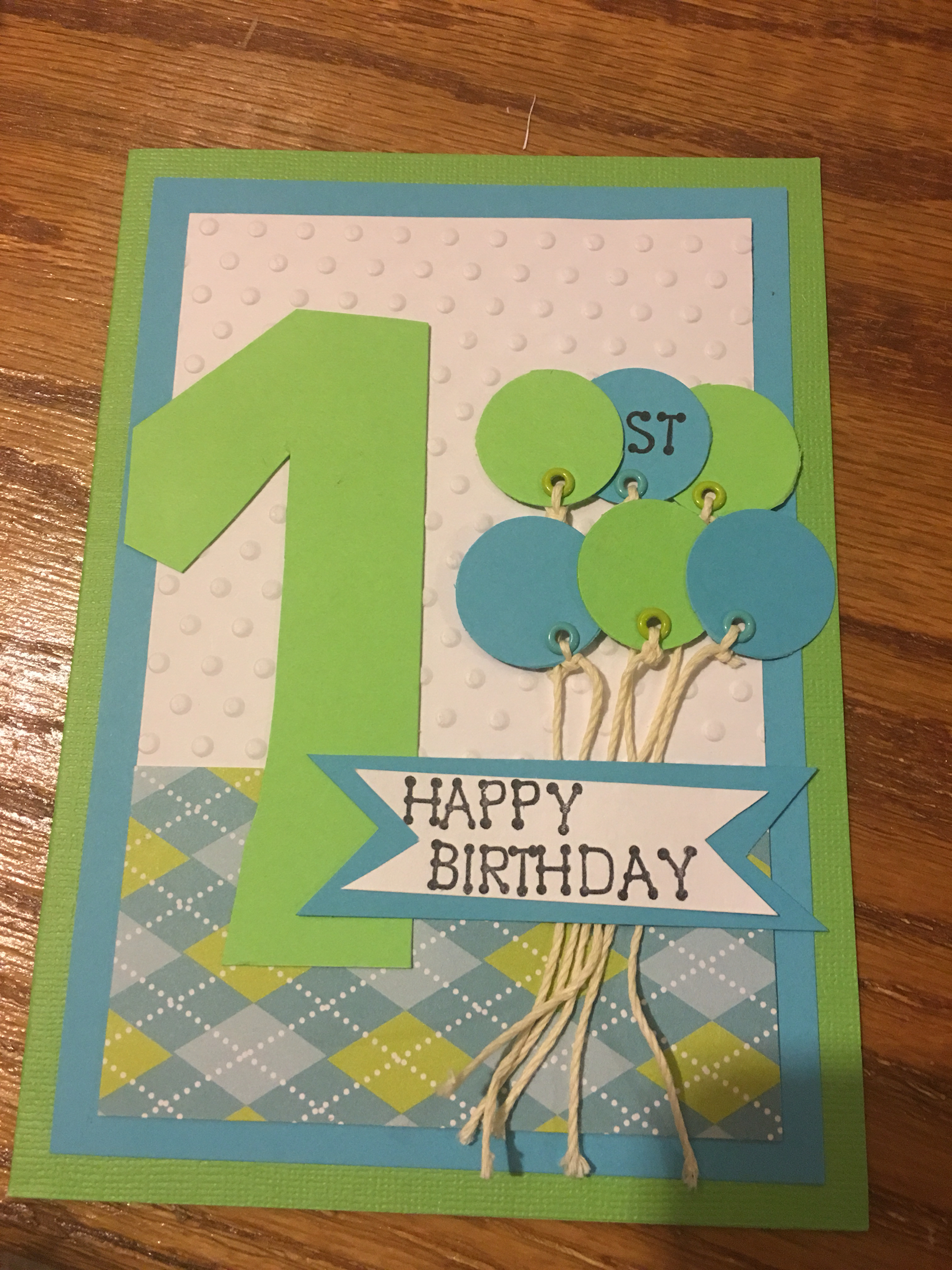 birthday card for one year old boy ; fb95c1872f58309294d16d566e8be906