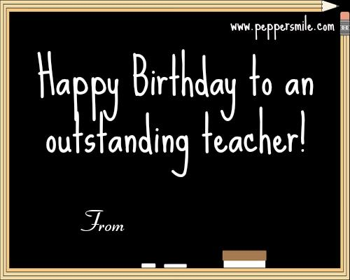 birthday card for teacher with name ; Birthday-Wishes-For-A-Teacher