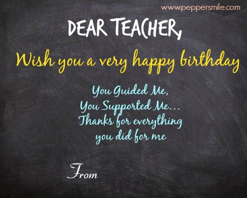 birthday card for teacher with name ; Birthday-Wishes-For-Teacher