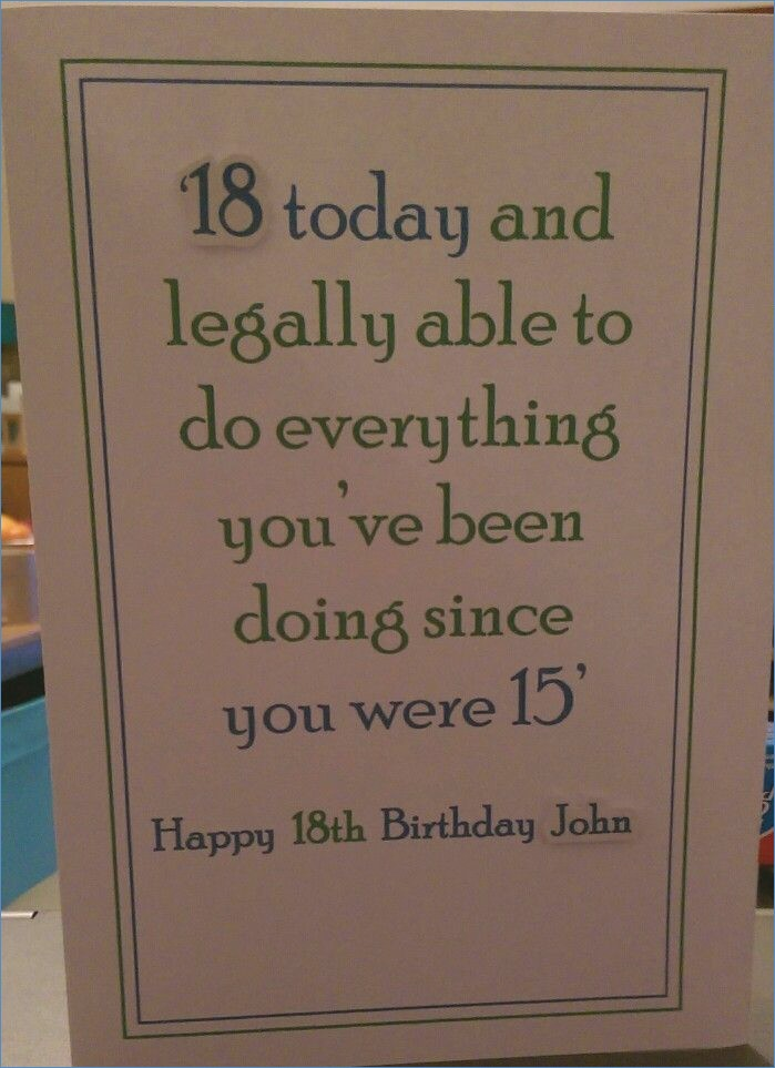 Birthday Card Ideas For 18 Year Olds The 25 Best 18th